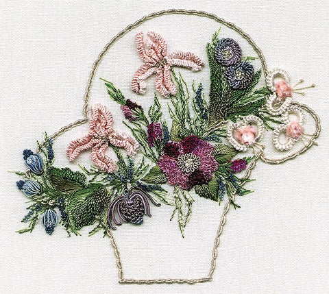 """Spring Basket"" Brazilian Embroidery Kit by EdMar"