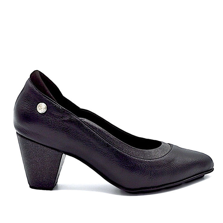 RHYME HEEL - BLACK/SHINE LEATHER