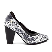 RHYTHM HEEL - BW PRINT LEATHER