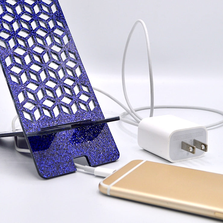 EASEL PHONE STAND - PURPLE LACE