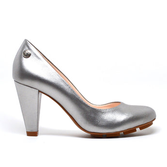 SKIGH HEEL - SILVER LEATHER