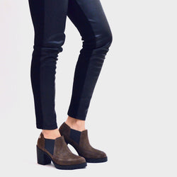STEP ANKLE BOOT - CAFÉ NUBUCK - Chelsea Jones Shoes