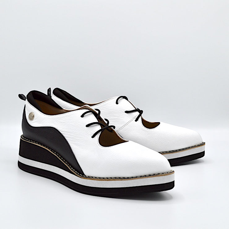 TEMPO - WHITE/BLACK LEATHER