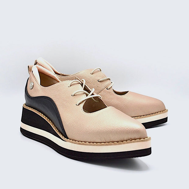 TEMPO - ROSEGOLD/BLACK LEATHER