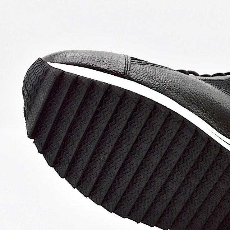 VERSE ELEVATED FLAT - BLACK LEATHER/MESH