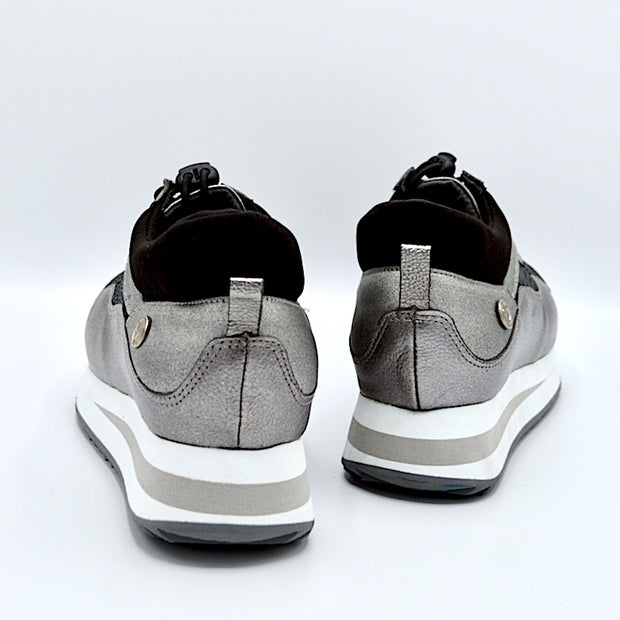 VERSE ELEVATED FLAT - STERLING LEATHER/MESH
