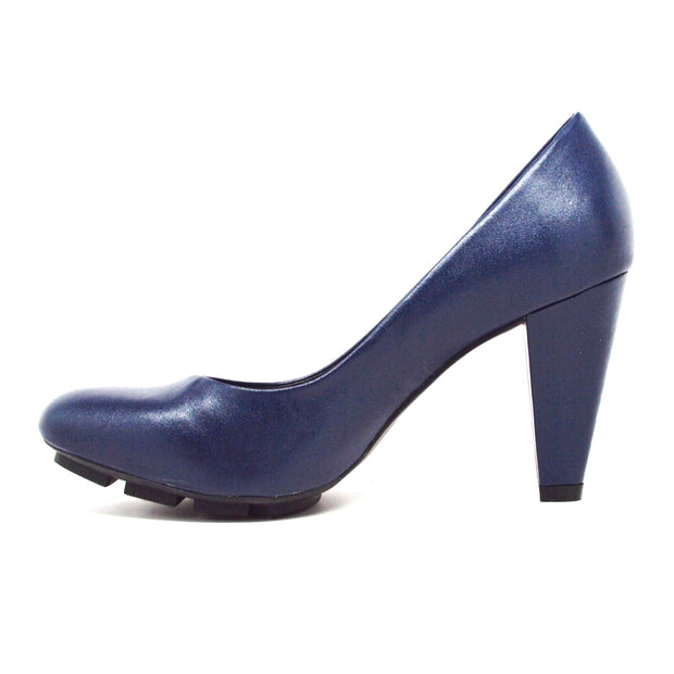 SKIGH HIGH PUMP - NAVY LEATHER - Chelsea Jones Shoes