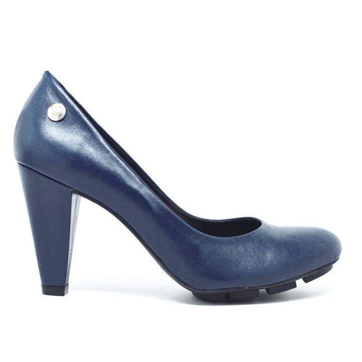 SKIGH HIGH PUMP - NAVY LEATHER-Classic Heels-Chelsea Jones Shoes