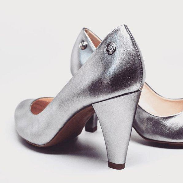 SKIGH HIGH PUMP - SILVER LEATHER - Chelsea Jones Shoes