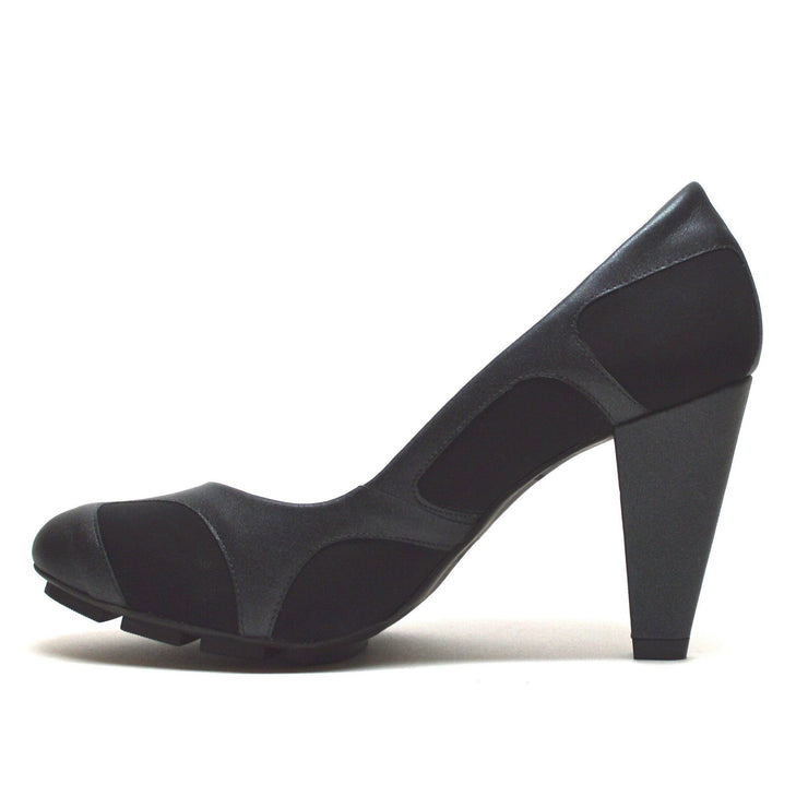 SKIGH PEEK PUMP - BLACK/NEOPRENE - Chelsea Jones Shoes