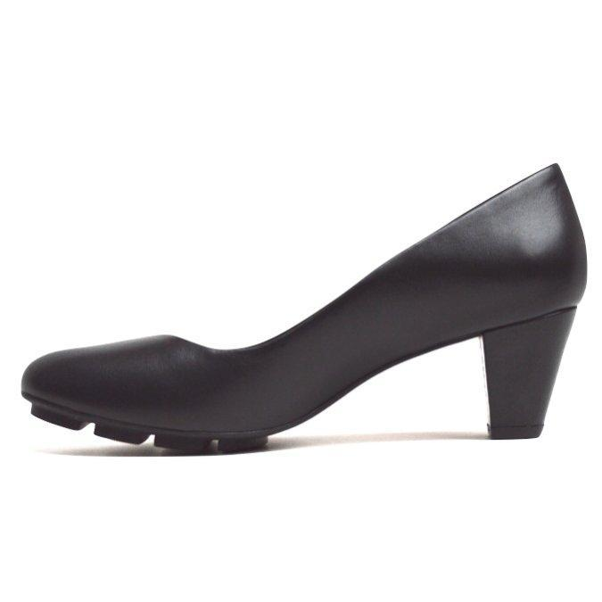 SKIP MID HEEL - BLACK LEATHER - Chelsea Jones Shoes