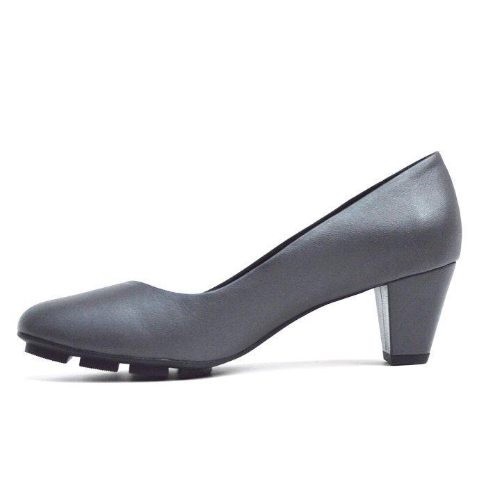 SKIP MID HEEL - GREY LEATHER - Chelsea Jones Shoes