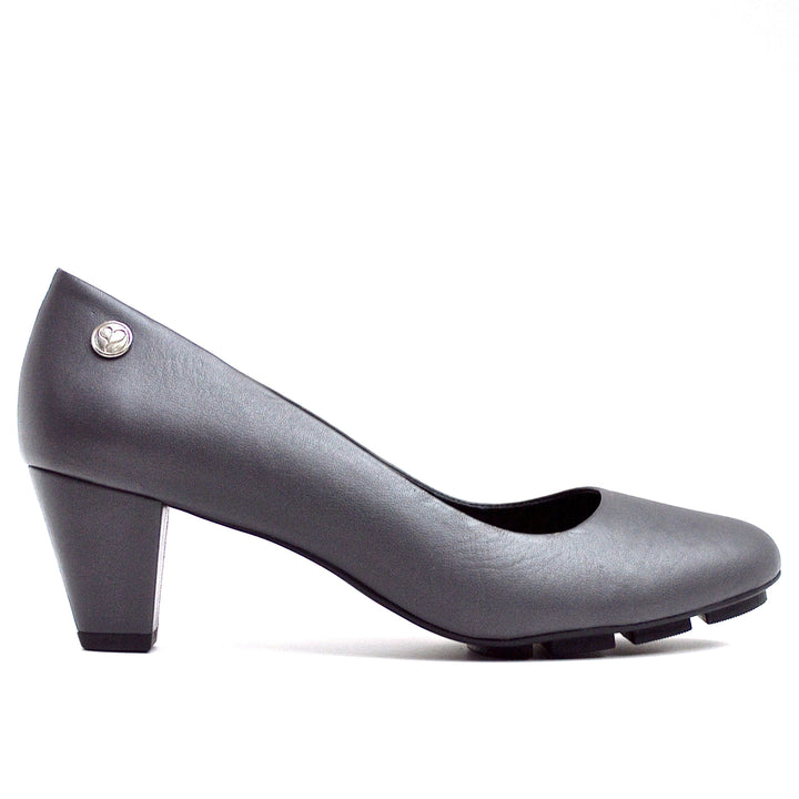 SKIP MID HEEL - GREY LEATHER-Mid-Heel-Chelsea Jones Shoes
