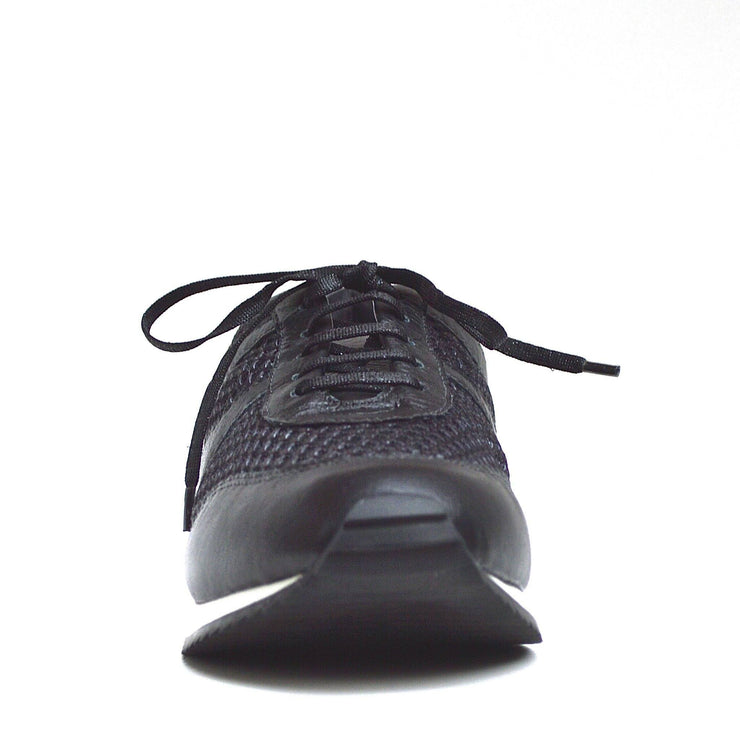TRAIN TRAVEL SHOE - BLACK / BLACK MESH - Chelsea Jones Shoes