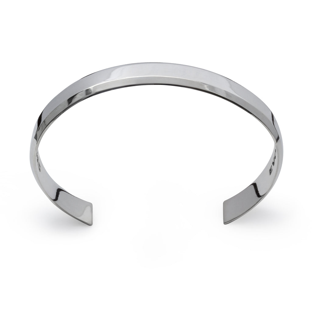 His or Hers Cuff Bracelet in Sterling Silver
