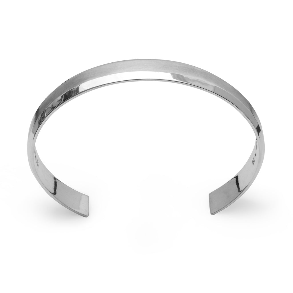 Uni-Bracelet Sterling Silver Brushed Surface Cuff