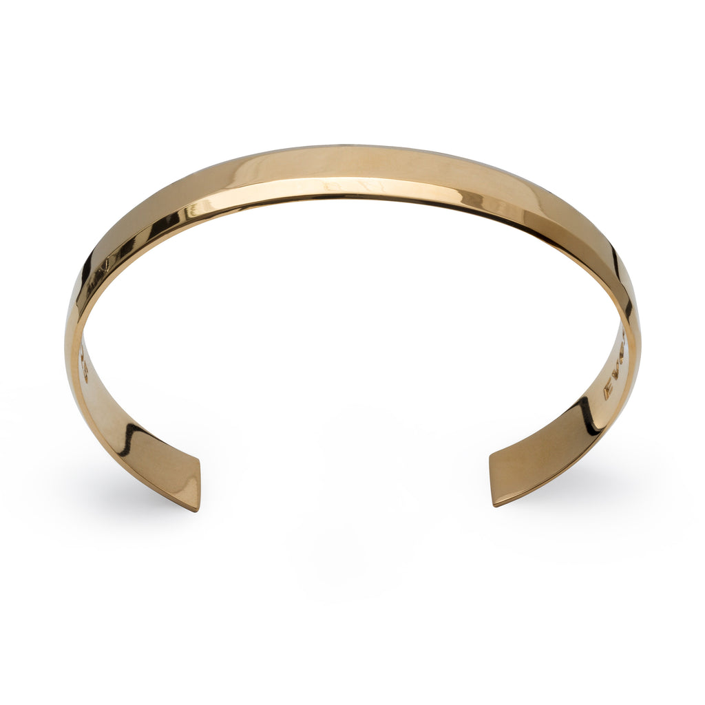 Uni-Bracelet 18K Gold Plated Polished Cuff for Men and Women