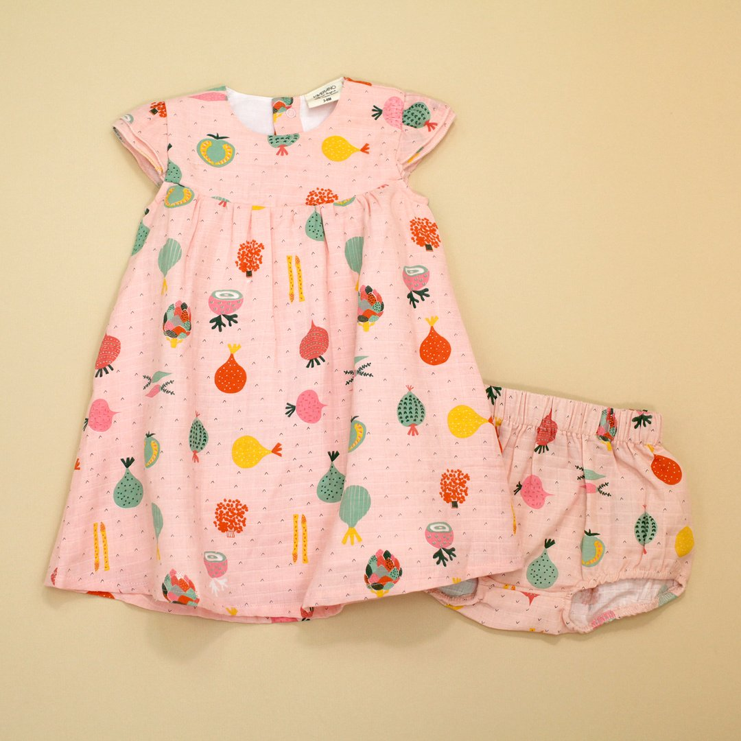 Veggie Salad Dress with Bloomer Set