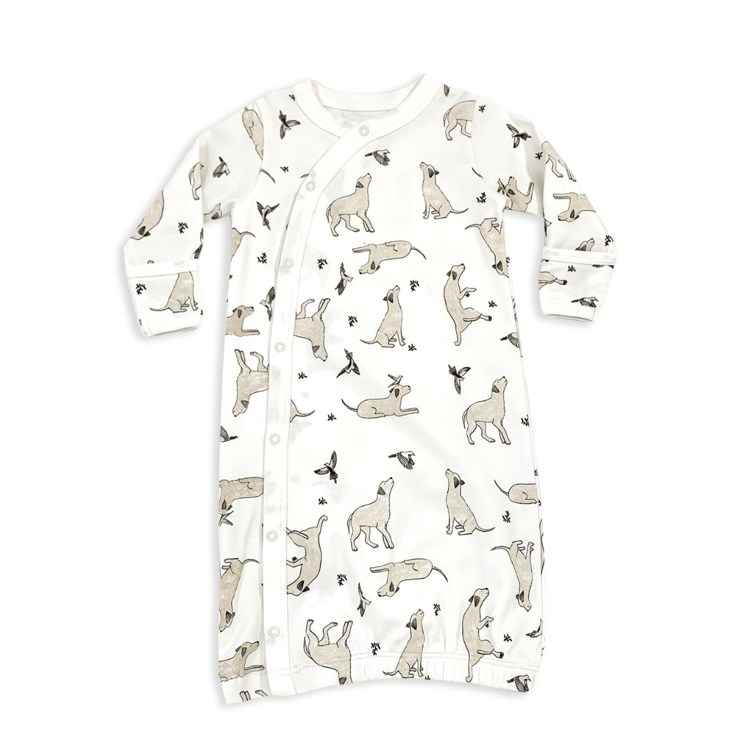 Kai Dog & Hummingbird Sleep Gown - Natural