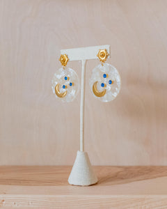 Take Me to the Moon Earrings - Ivory