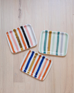Striped Rectangle Tray - Wide Stripe