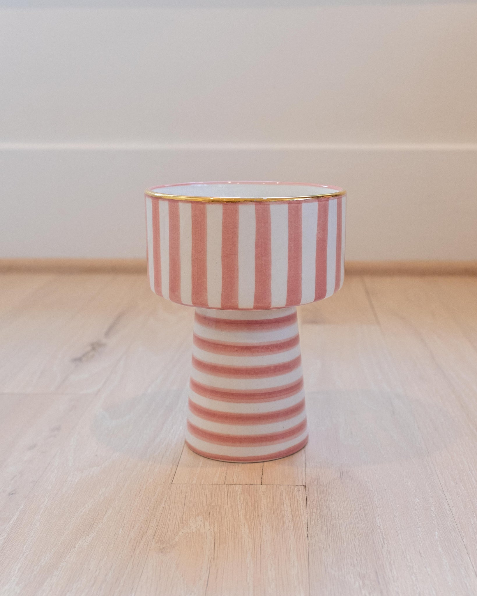 Fruit Cup - Pink & Gold Stripe