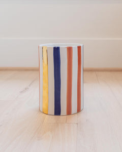 Straight Pot - Ourika Blue & Gold