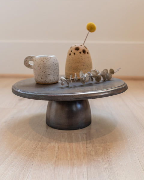 Metallic Black Cake Stand