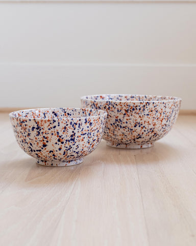 Granito Bowl - Terracotta & Navy