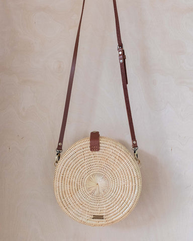 Rattan Round Crossover Bag