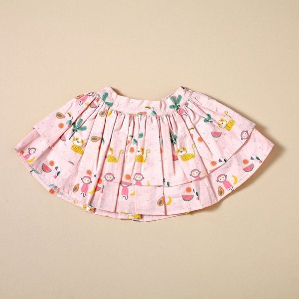 Tropical Jungle Two Tier Skirt with Bow