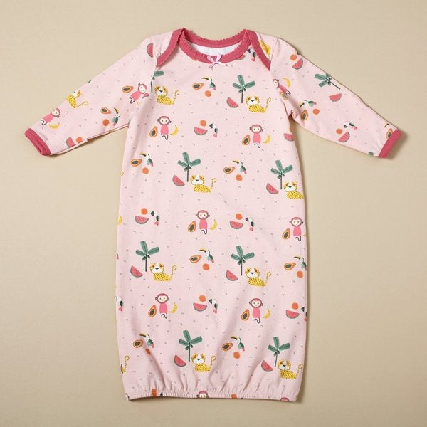 Tropical Jungle Sleep Gown & Hat Set