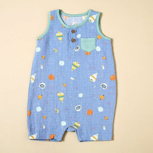 Space Dream Sleeveless Romper with Pocket