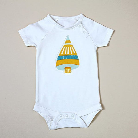 Yellow Space Shuttle Short Sleeve Bodysuit