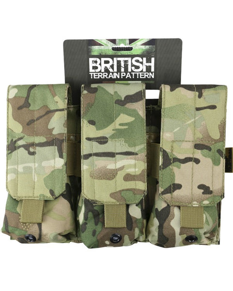 Triple ORIGINAL Style Mag Pouch - BTP - with Molle Rear Fixings