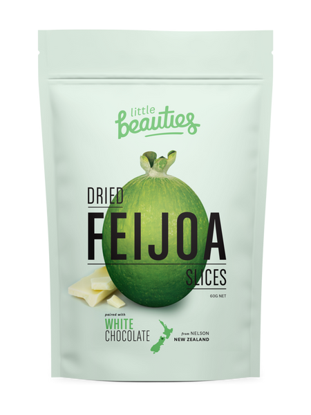 Little Beauties Dried Feijoa With White Chocolate