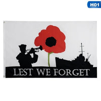 Flag - Lest We Forget - Army and Navy