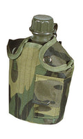 Water Bottle in Camo Pouch