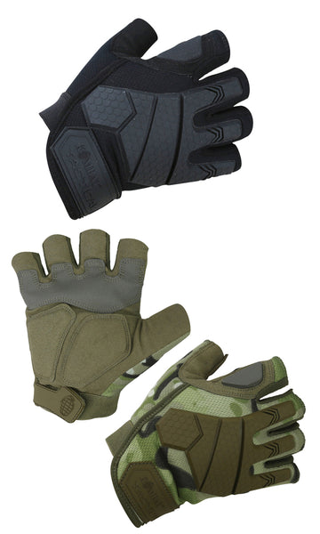 Kombat Alpha Fingerless Tactical Gloves