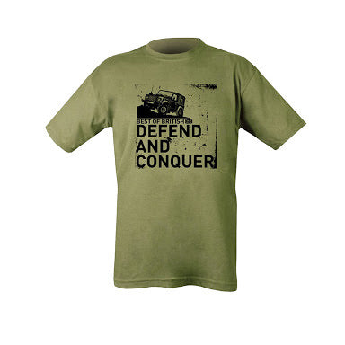 Best Of British DEFEND AND CONQUER Landrover T Shirt
