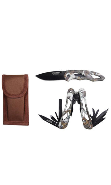 Jack Pyke Camo Multi Tool & Knife Set