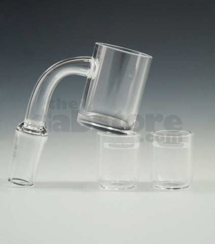 14 MM Male Quartz Bucket Nail w/ Quartz Insert