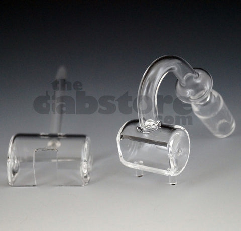 14 MM Male Quartz Trough Nail w/ Carb Cap Dabber