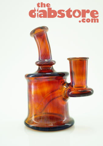 710 Glass 10 MM Amber Purple Micro Rig