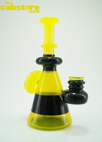 Baked Kreations Glass - 14 mm F Lemon Drop/Crushed Opal Mini Tube
