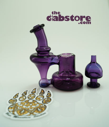 Bear Mountain Studios - Micro Gold Amethyst Refined Bell Recycler 10 MM