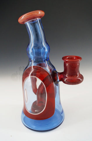 Bowman Glass - Window Tube Blue Dream / Orange Elvis