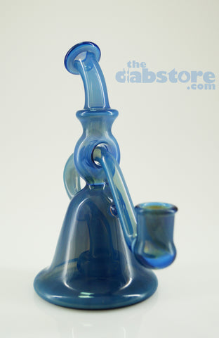 Cello Glass - 14 MM Electric Blue Hole