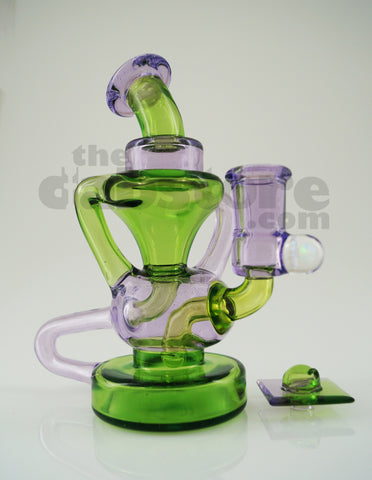 E.F. Norris 14 MM Connoisseur Cup Recycler Crippy & Purple Rain