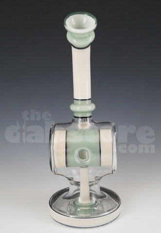 Evol Empire Glass 70 MM Eclipse Rig White over Disco Sparkle and Northern Lights Teal over White